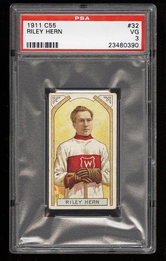 Image of: 1911 C55 Hockey Riley Hern #32 PSA 3 VG (PWCC)
