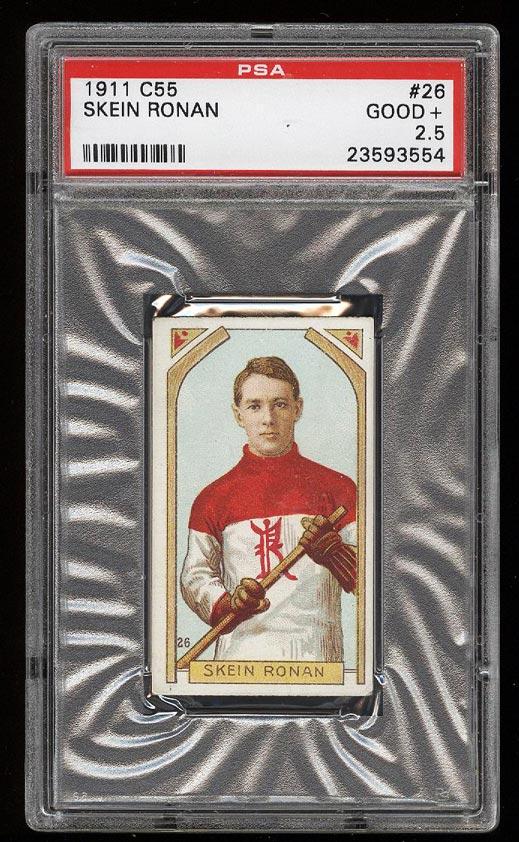 Image of: 1911 C55 Hockey Skein Ronan #26 PSA 2.5 GD+ (PWCC)