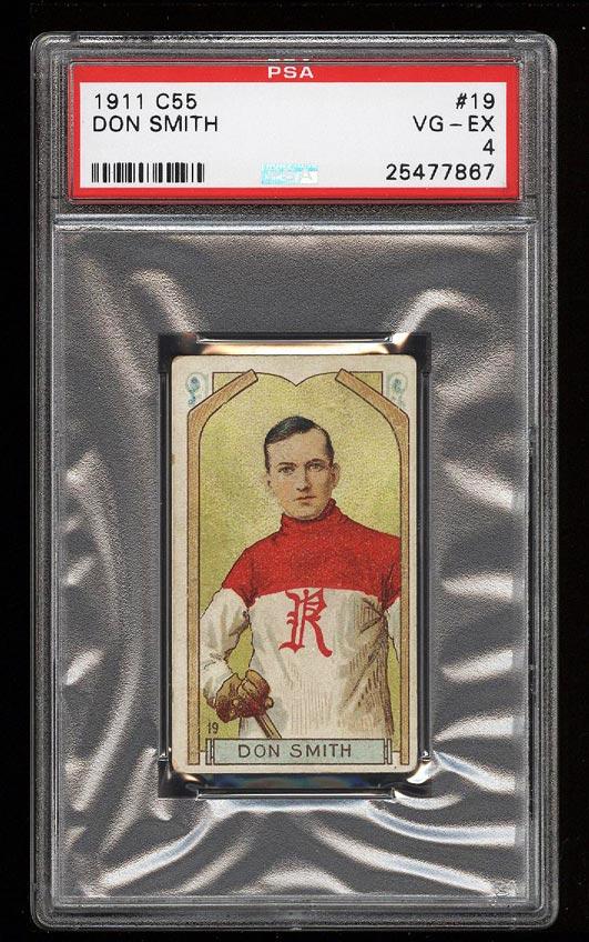 Image of: 1911 C55 Hockey Don Smith #19 PSA 4 VGEX (PWCC)