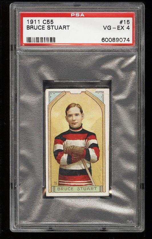 Image of: 1911 C55 Hockey Bruce Stuart #15 PSA 4 VGEX (PWCC)