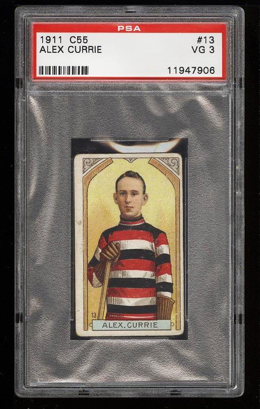 Image of: 1911 C55 Hockey Alex Currie #13 PSA 3 VG (PWCC)