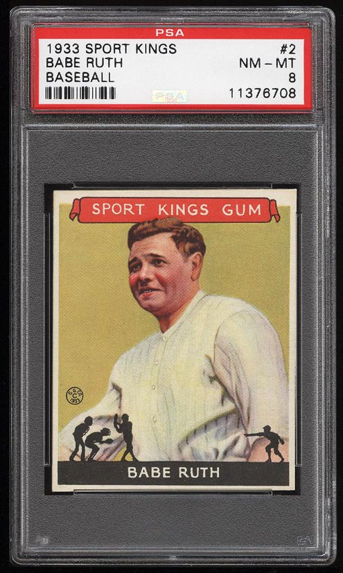 Image of: 1933 Goudey Sport Kings Babe Ruth #2 PSA 8 NM-MT (PWCC)