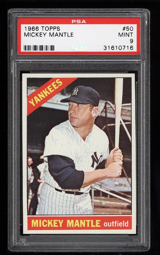 Image of: 1966 Topps Mickey Mantle #50 PSA 9 MINT (PWCC)