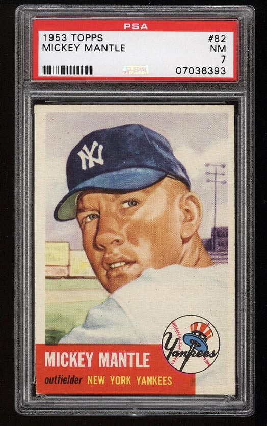 Image of: 1953 Topps Mickey Mantle SHORT PRINT #82 PSA 7 NRMT (PWCC)