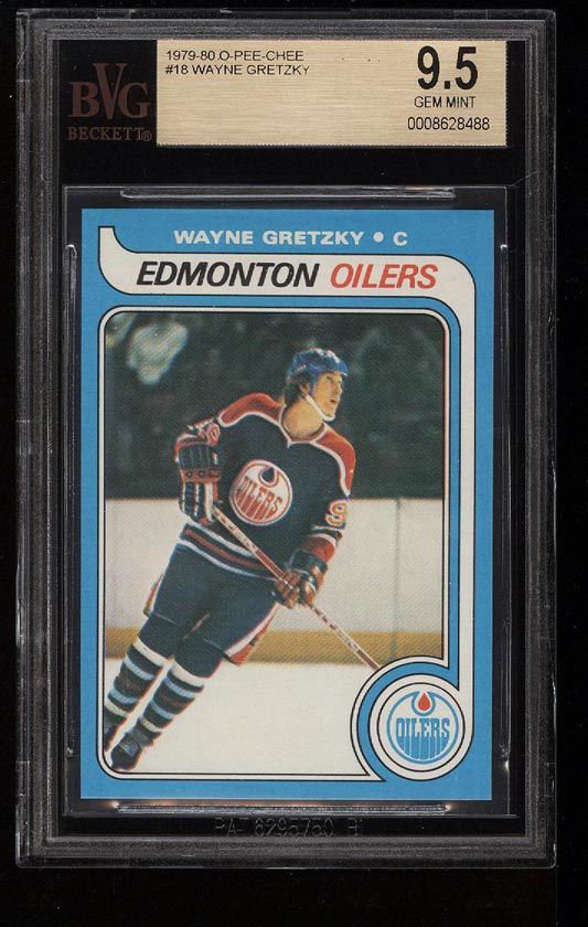 Image of: 1979 O-Pee-Chee Hockey Wayne Gretzky ROOKIE RC #18 BVG 9.5 GEM MINT (PWCC)