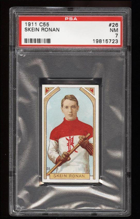 Image of: 1911 C55 Hockey SETBREAK Skein Ronan #26 PSA 7 NRMT (PWCC)