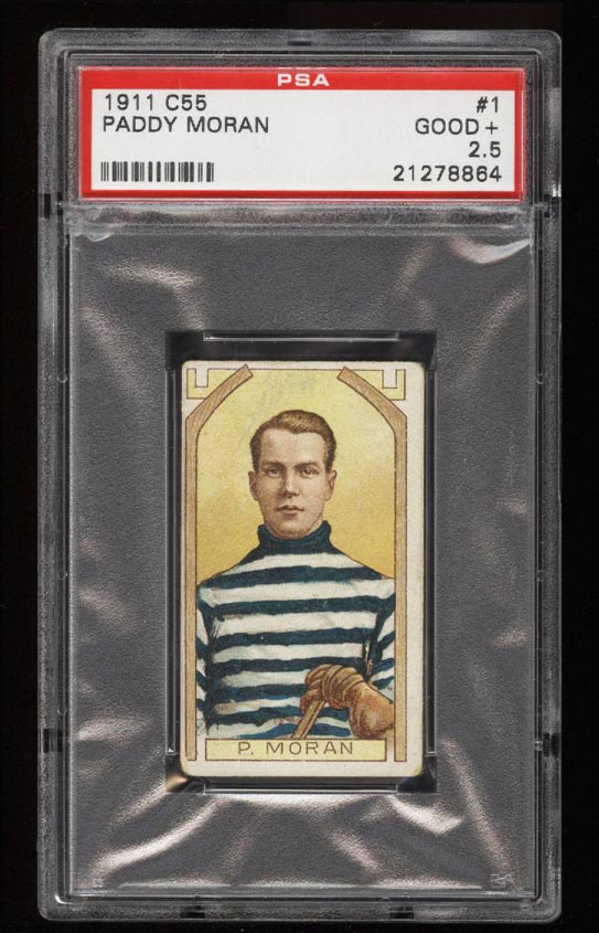 Image of: 1911 C55 Hockey SETBREAK Paddy Moran #1 PSA 2.5 GD+ (PWCC)