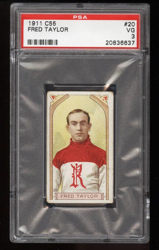 Image of: 1911 C55 Hockey SETBREAK Fred Cyclone Taylor #20 PSA 3 VG (PWCC)