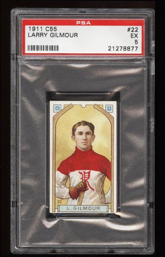 Image of: 1911 C55 Hockey SETBREAK Larry Gilmour #22 PSA 5 EX (PWCC)