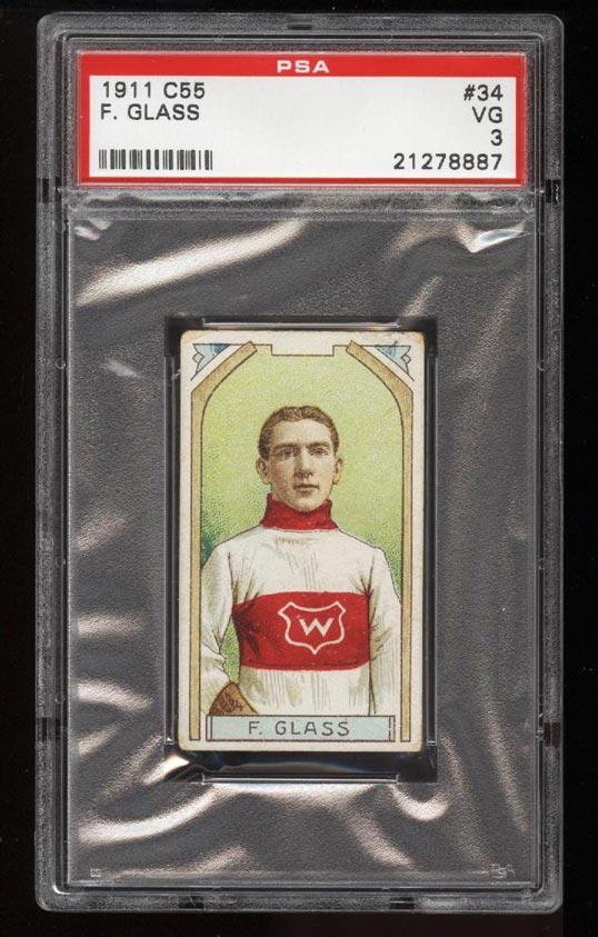 Image of: 1911 C55 Hockey SETBREAK Frank Glass #34 PSA 3 VG (PWCC)