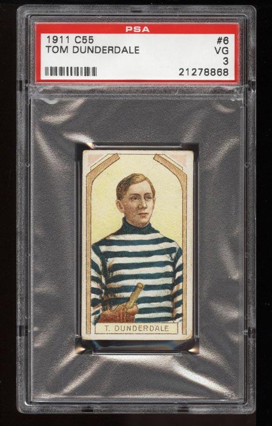 Image of: 1911 C55 Hockey SETBREAK Tom Dunderdale #6 PSA 3 VG (PWCC)