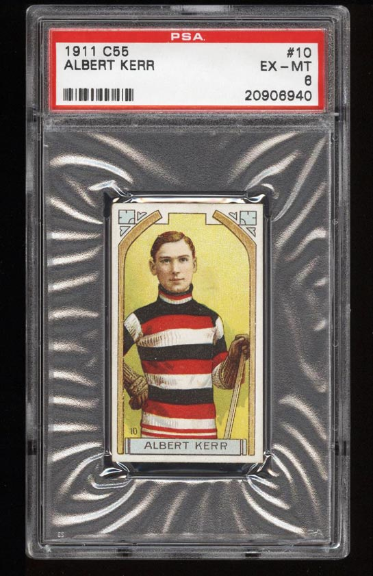 Image of: 1911 C55 Hockey SETBREAK Albert Kerr #10 PSA 6 EXMT (PWCC)