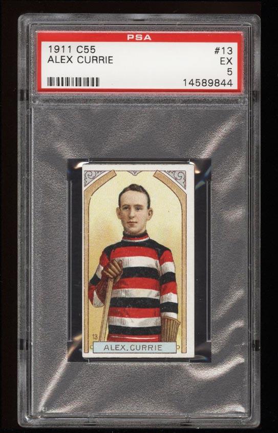 Image of: 1911 C55 Hockey SETBREAK Alex Currie #13 PSA 5 EX (PWCC)