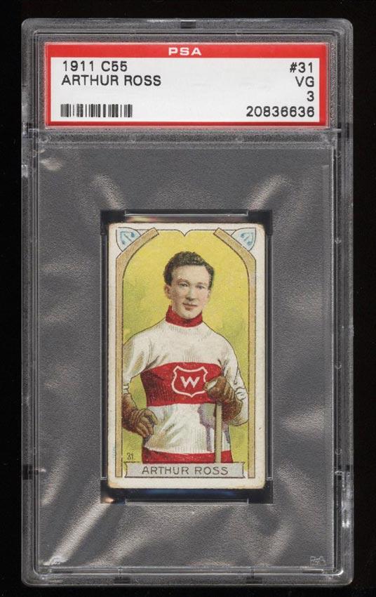 Image of: 1911 C55 Hockey SETBREAK Art Ross #31 PSA 3 VG (PWCC)