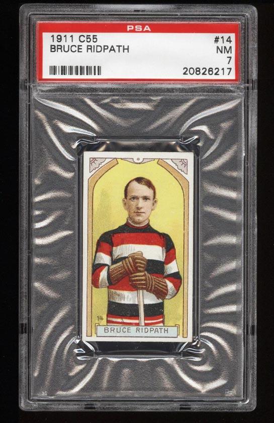 Image of: 1911 C55 Hockey SETBREAK Bruce Ridpath #14 PSA 7 NRMT (PWCC)