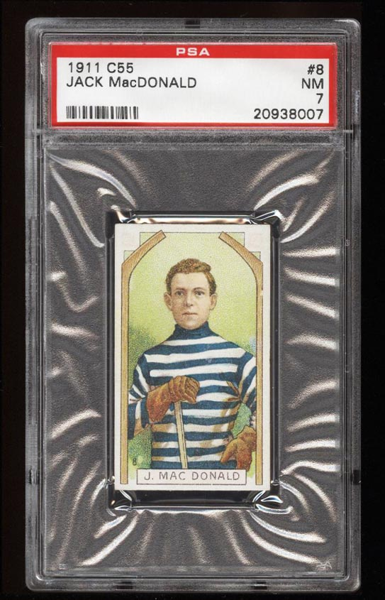 Image of: 1911 C55 Hockey SETBREAK Jack MacDonald #8 PSA 7 NRMT (PWCC)