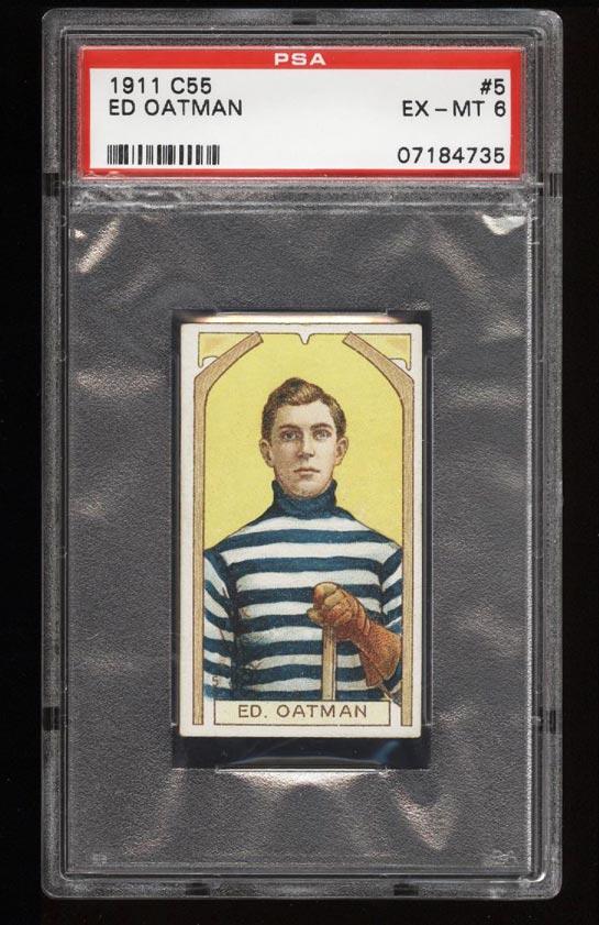 Image of: 1911 C55 Hockey SETBREAK Ed Oatman #5 PSA 6 EXMT (PWCC)