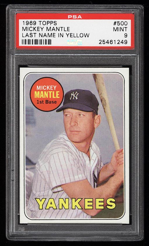 Image of: 1969 Topps Mickey Mantle #500 PSA 9 MINT (PWCC-HE)