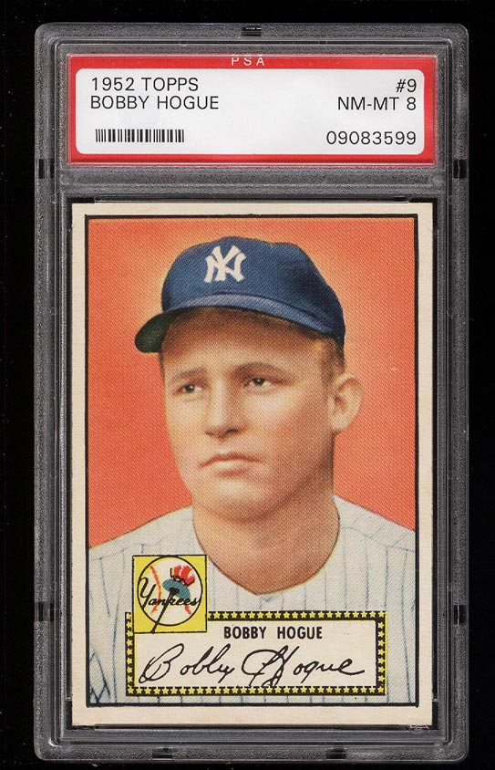 Image of: 1952 Topps SETBREAK Bobby Hogue #9 PSA 8 NM-MT (PWCC)