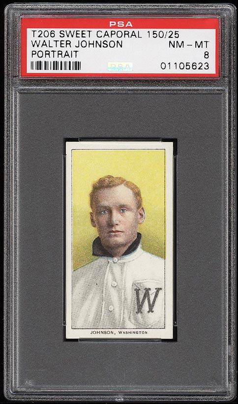 Image of: 1909-11 T206 Walter Johnson PORTRAIT PSA 8 NM-MT (PWCC)