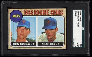 Image of: 1968 Topps Nolan Ryan ROOKIE RC #177 SGC 9/96 MINT (PWCC-HE)