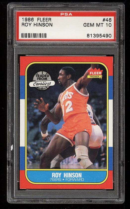 Image of: 1986 Fleer Basketball Roy Hinson #46 PSA 10 GEM MINT (PWCC)