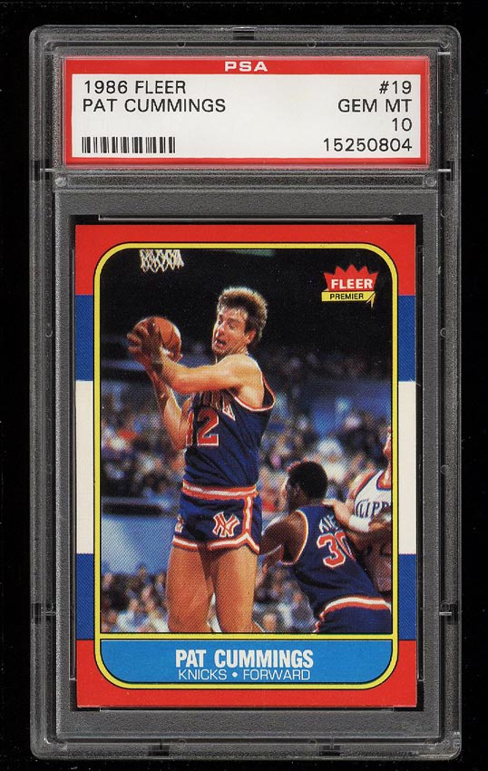 Image of: 1986 Fleer Basketball Pat Cummings #19 PSA 10 GEM MINT (PWCC)