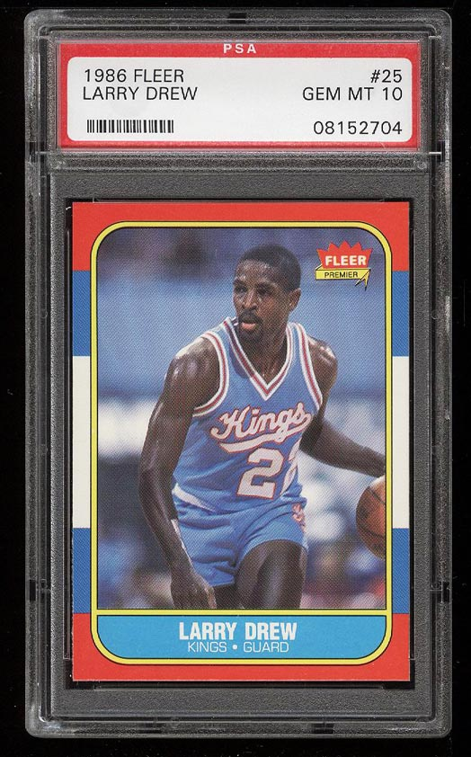 Image of: 1986 Fleer Basketball Larry Drew #25 PSA 10 GEM MINT (PWCC)