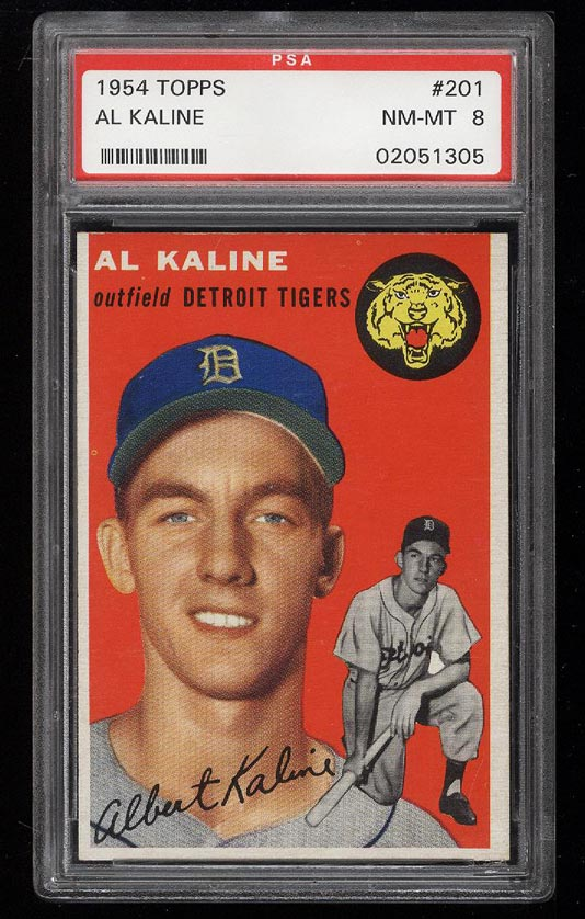 Image of: 1954 Topps Al Kaline ROOKIE RC #201 PSA 8 NM-MT (PWCC)