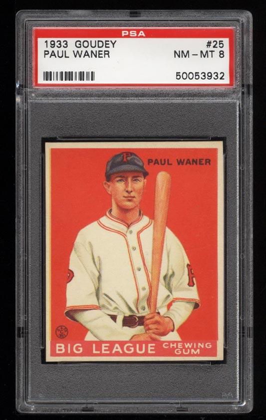 Image of: 1933 Goudey Paul Waner #25 PSA 8 NM-MT (PWCC)
