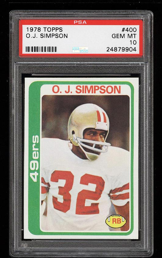 Image of: 1978 Topps Football O.J. Simpson #400 PSA 10 GEM MINT (PWCC)