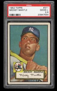 Image of: 1952 Topps Mickey Mantle #311 PSA 2.5 GD+ (PWCC)