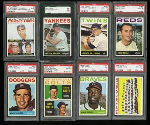 Image of: 1964 Topps Hi-Grade COMPLETE SET Mantle Clemente Aaron Koufax Rose, PSA (PWCC)