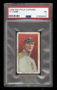 Image of: 1909 E95 Philadelphia Caramel Ty Cobb PSA 1 PR (PWCC)