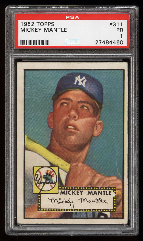 Image 1 of: 1952 Topps Mickey Mantle #311 PSA 1 PR (PWCC)