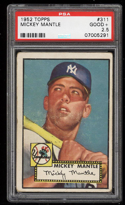 Image 1 of: 1952 Topps Mickey Mantle #311 PSA 2.5 GD+ (PWCC)