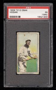 Image of: 1909 T212 Obak Hogan PSA 1(mk) PR (PWCC)