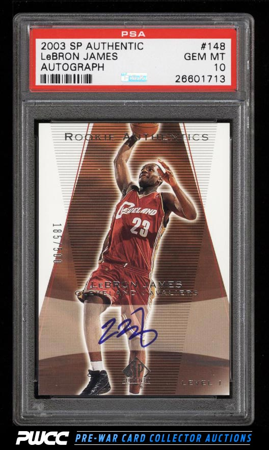 2003-04 Exquisite LeBron James Rookie Card Sale $95,000 ...