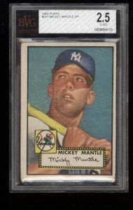 Image of: 1952 Topps Mickey Mantle #311 BVG 2.5 GD+ (PWCC)