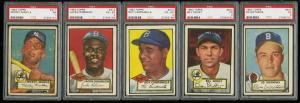 Image of: 1952 Topps Lo-Mid Grd COMPLETE SET Mays Mathews Berra Robinson Mantle PSA (PWCC)