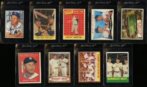 Image of: Lot(9) 1952-63 Topps Bowman Mickey Mantle, VGEX to EXMT (PWCC)