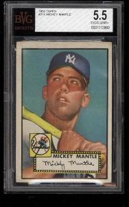 Image of: 1952 Topps Mickey Mantle #311 BVG 5.5 EX+ (PWCC)