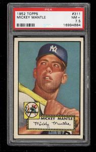 Image of: 1952 Topps Mickey Mantle #311 PSA 7.5 NRMT+ (PWCC)