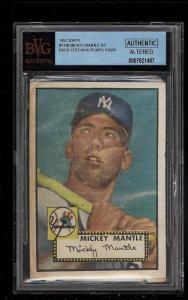 Image of: 1952 Topps Mickey Mantle #311 BVG Altered (PWCC)