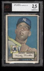 Image of: 1952 Topps Mickey Mantle ROOKIE RC #311 BVG 2.5 GD+ (PWCC)