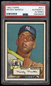 Image of: 1952 Topps Mickey Mantle #311 PSA Altered (PWCC)