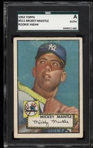 Image of: 1952 Topps Mickey Mantle #311 SGC AUTH (PWCC)