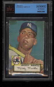 Image of: 1952 Topps Mickey Mantle #311 BVG AUTH (PWCC)