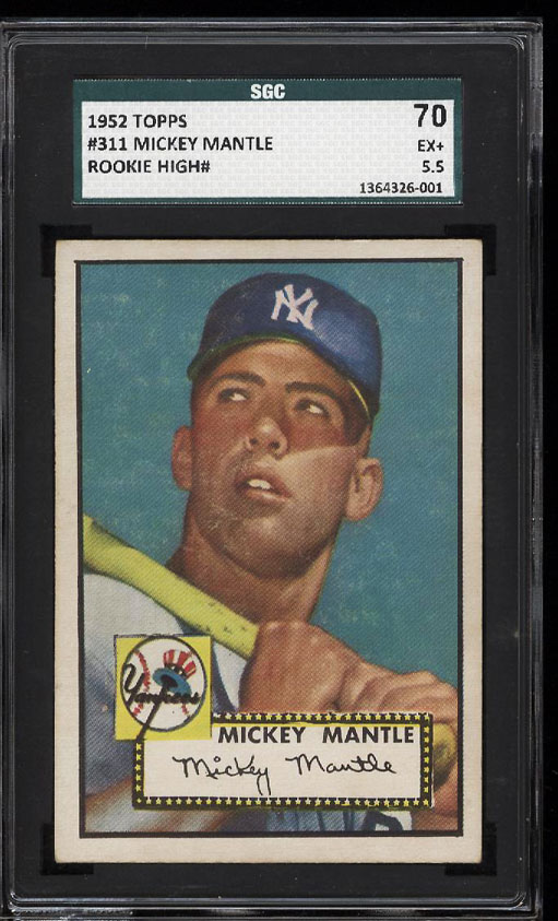 Image 1 of: 1952 Topps Mickey Mantle #311 SGC 70/5.5 EX+ (PWCC)