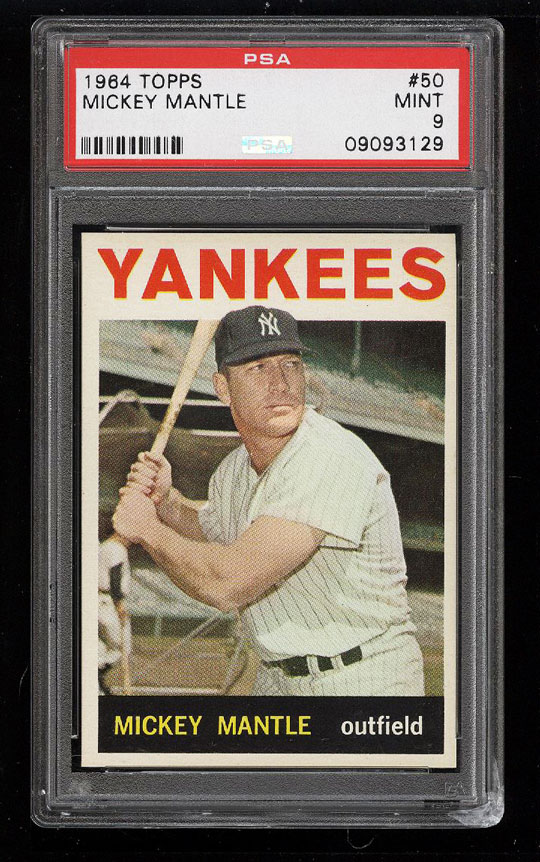 Image 1 of: 1964 Topps Mickey Mantle #50 PSA 9 MINT (PWCC)